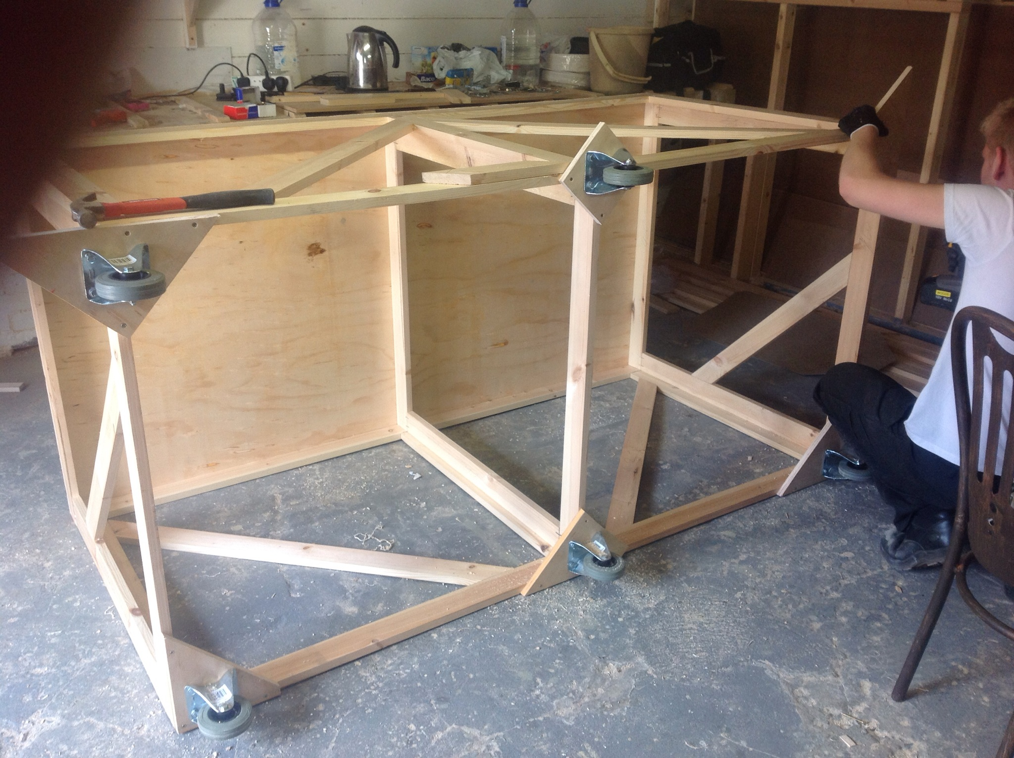 No Trap Door In Your Stage No Problem Here Is How To Make A Temporary Trap Door Solution For Hellodolly Michael Woods